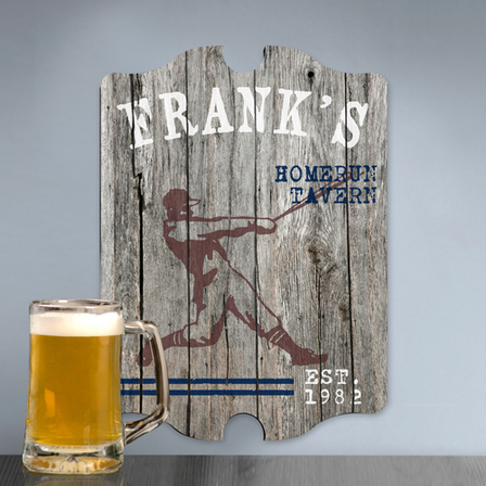Home Run Vintage Man Cave Sign - Free Personalization