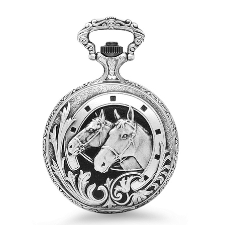 Horse and Horseshoe Charles Hubert Pocket Watch & Chain #3530