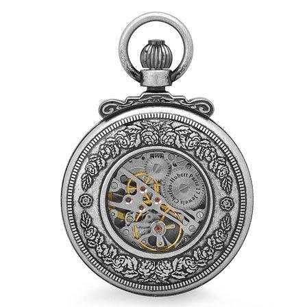 Horse Theme Mechanical Charles Hubert Pocket Watch & Chain #3865-S