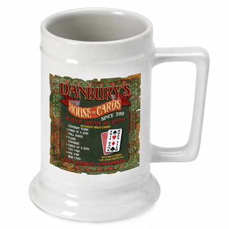 House Of Cards  German Beer Stein - Free Personalization