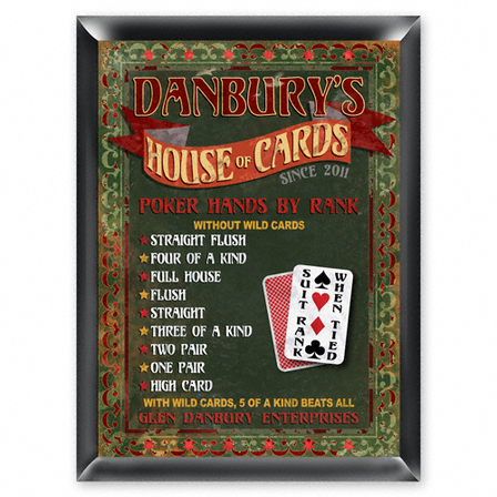House Of Cards Pub Sign - Free Personalization