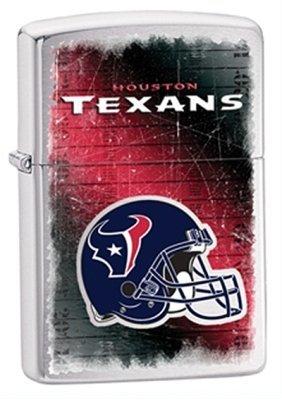 Houston Texans NFL Brushed Chrome Zippo Lighter - ID# 28225