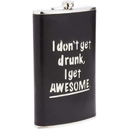 I Get Awesome 64 Ounce Flask