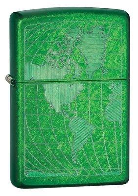 Iced World Map Meadow Zippo Lighter - ID# 28340