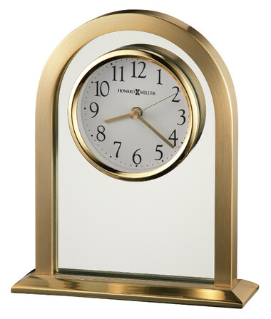 Imperial Arched Brass Table Clock by Howard Miller