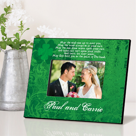 Irish Blessing Personalized Picture Frame