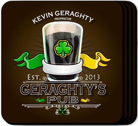 Irish Coaster Set - Free Personalization