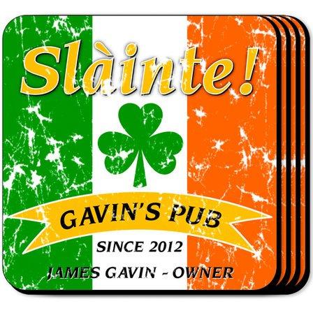 Irish Flag Coaster Set - Free Personalization
