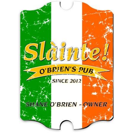 Irish Flag Vintage Pub Sign - Free Personalization