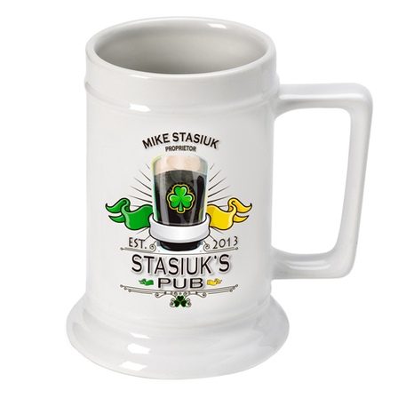 Irish Beer Stein - Free Personalization