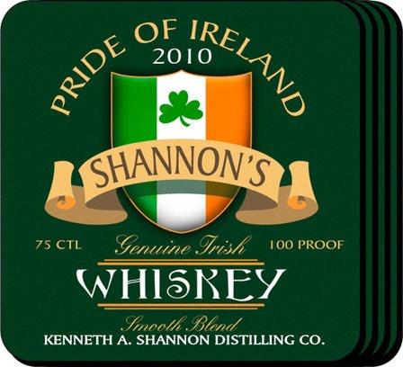 Irish Whiskey Coaster Set - Free Personalization