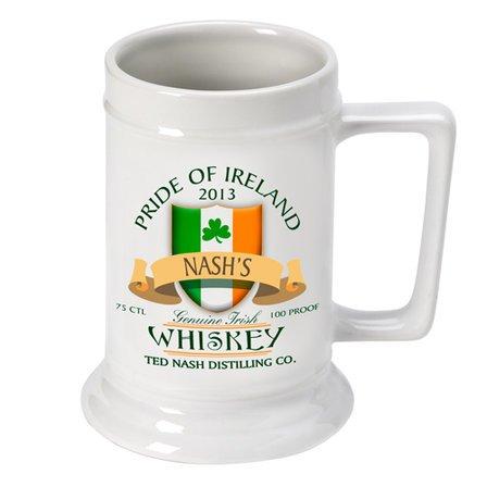 Irish Whiskey German Beer Stein- Free Personalization
