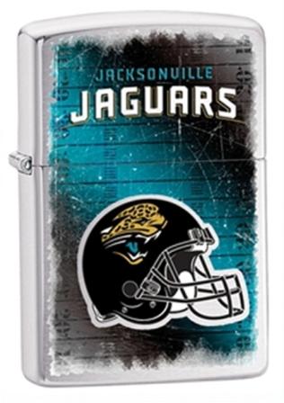 Jacksonville Jaguars NFL Brushed Chrome Zippo Lighter - ID# 28211