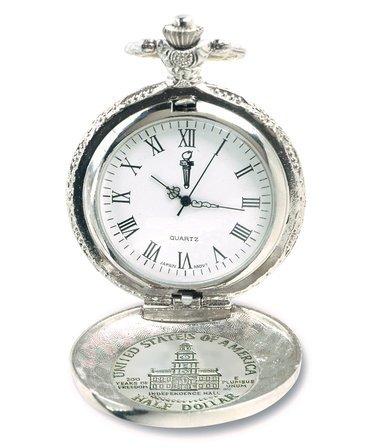 JFK Bicentennial Half Dollar Pocket Watch & Chain