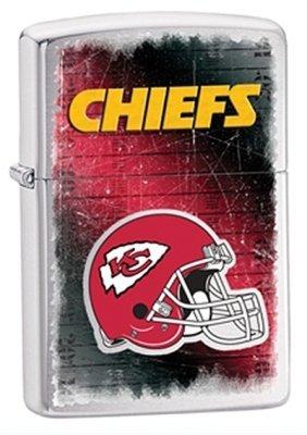 Kansas City Chiefs NFL Brushed Chrome Zippo Lighter - ID# 28592