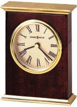 Laurel Rosewood Finish Tabletop Clock by Howard Miller