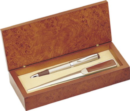 Leather & Chrome Letter Opener & Pen Gift Set