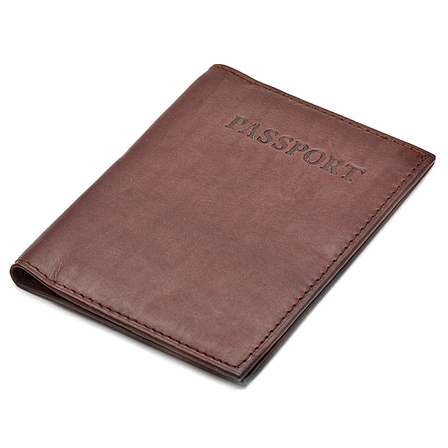 Leather Passport Holder with Passport Stamp