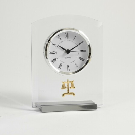 Legal Theme Desk Clock