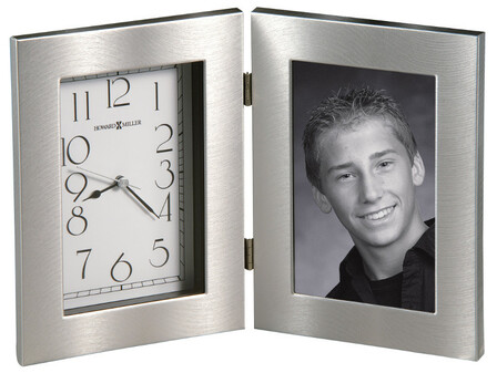 Lewiston Picture Frame Desk Clock by Howard Miller