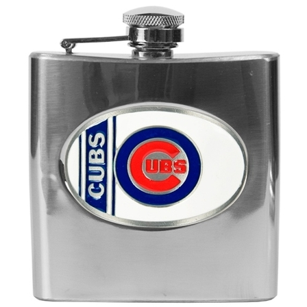 Engraved Major League Baseball Flask