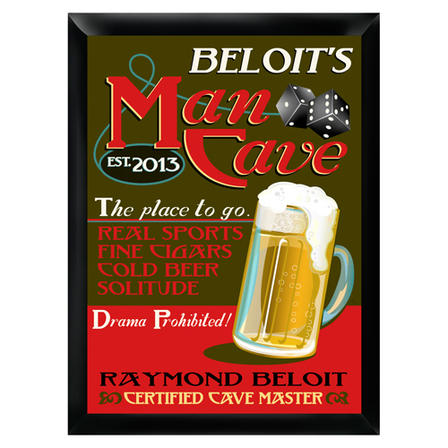 Man Cave  Pub Sign - Free Personalization