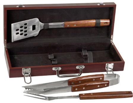 Man Cave   Rosewood Barbecue Set
