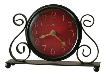 Marisa Bent Scroll Iron Table Clock by Howard Miller