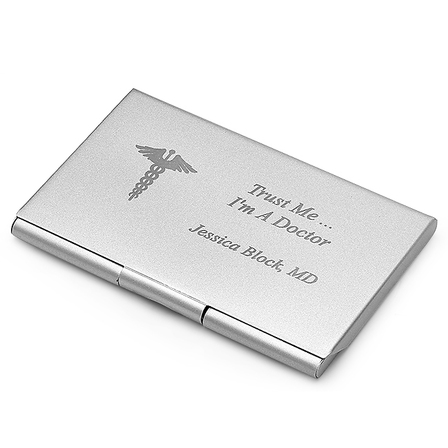 Medical Theme Personalized Business Card Holder