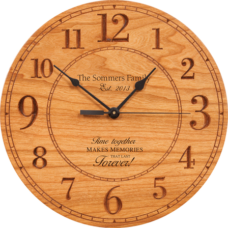Memories That Last Personalized  Wall Clock