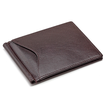 Men's Personalized Leather Bifold Wallet with Money Clip