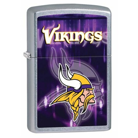 Minnesota Vikings NFL Brushed Chrome Zippo Lighter - ID# 28615