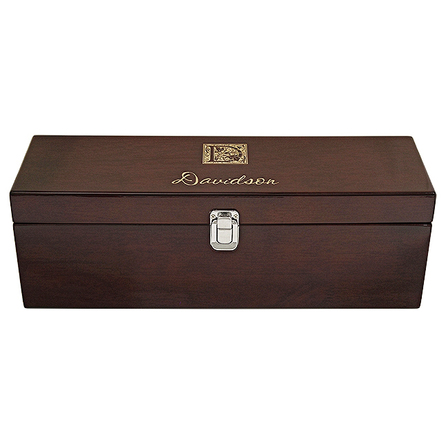 Monogram Single Bottle Wine Presentation Box with Tools