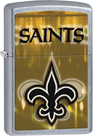 New Orleans Saints NFL Brushed Chrome Zippo Lighter - ID# 28609