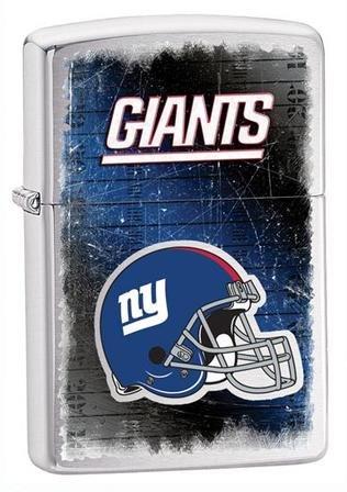 New York Giants NFL Brushed Chrome Zippo Lighter - ID# Z732