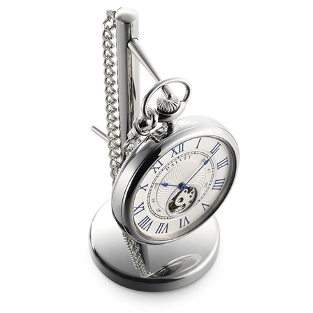 Open Face Pocket Watch & Stand by Dalvey