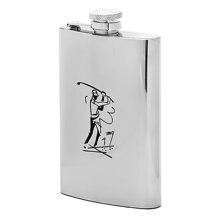 Perfect Form Engraved Golfer's Flask