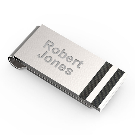 Performance Engraved Spring Loaded Money Clip