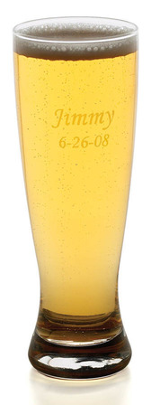 Personalized 22 Ounce Grand Pilsner Glass