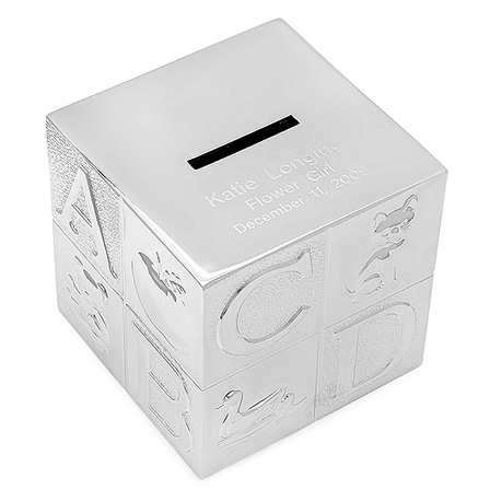 Personalized Alphabet Cube Money Bank