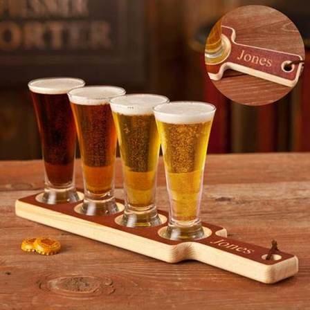 Personalized Beer Tasting Flight Set