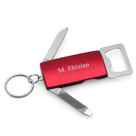 Personalized Bottle Opener Key Chain