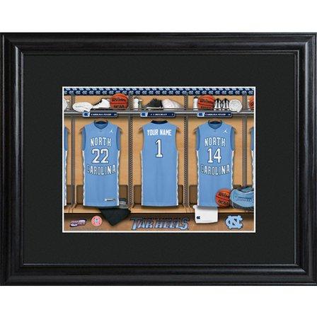 Personalized College Basketball Locker Room Print