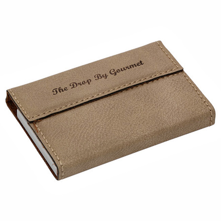 Personalized Leatherette Business Card Case