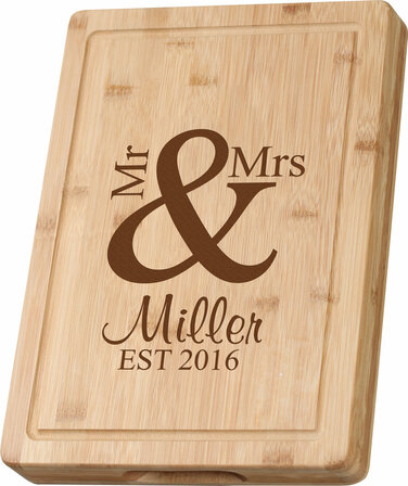 mr u0026 mrs grooved bamboo cutting board