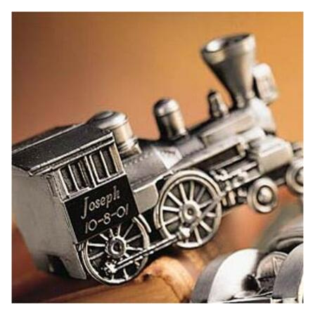 Personalized Pewter Train Bank