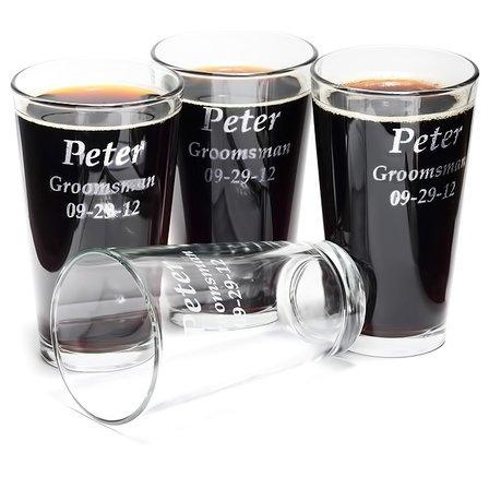 Personalized Pint Glass Set