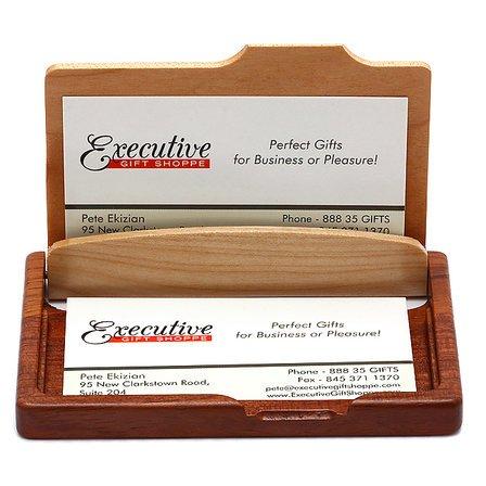 Personalized Pocket/Desktop Engravable Business Card Holder