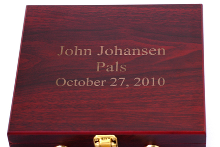 Personalized Rosewood Finish Poker Set
