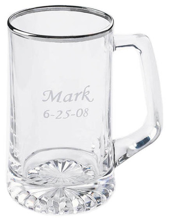 Personalized Silver Rimmed 25 Ounce Sports Mug
